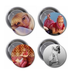 "Barbara Eden 3"" Buttons (Pack 2)"