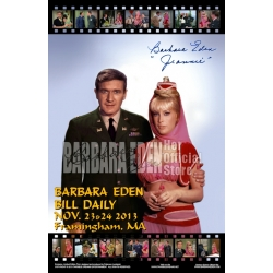 11x17 Poster - Barbara Eden & Bill Daily (Signed by Barbara Eden)