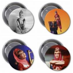 """Barbara Eden 3"""" Buttons (Pack 3)"""