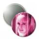 Barbara Eden Button Mirror - PRETTY PINK