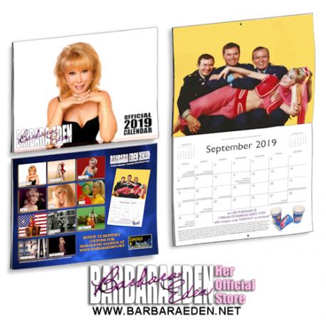 2019 Barbara Eden Calendar (Front Cover)