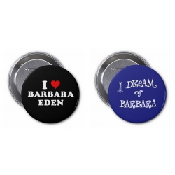 "Barbara Eden 3"" Buttons (Dream Love Set - B&B)"
