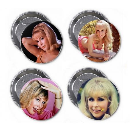 """Barbara Eden 3"""" Buttons (Pack 4)"""