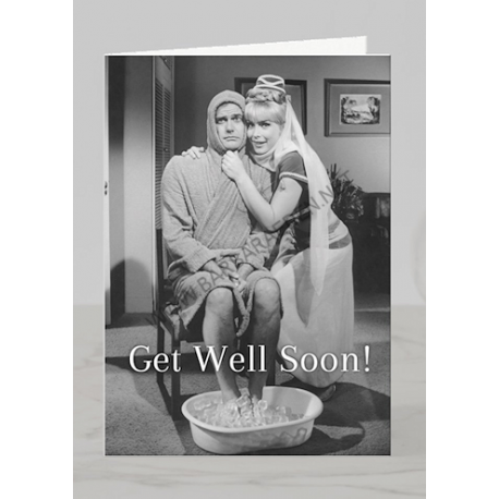 Get Well Greeting Card (Master & Jeannie)