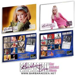 Autographed Barbara Eden Calendar Bundle