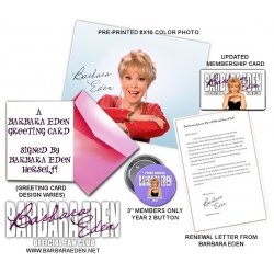 Barbara Eden Fan Club Renewal (1 Year)