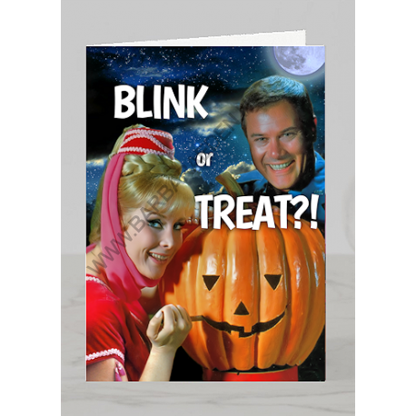 Halloween Greeting Card (Blink or Treat)