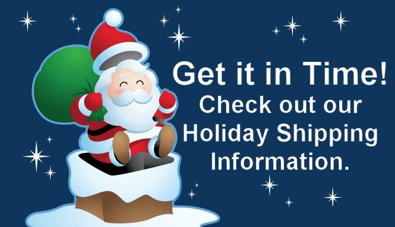 BarbaraEden.net Holiday Shipping Information